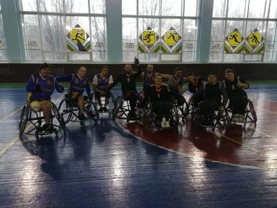 Ростовские особые баскетболисты на сборах в ДНР